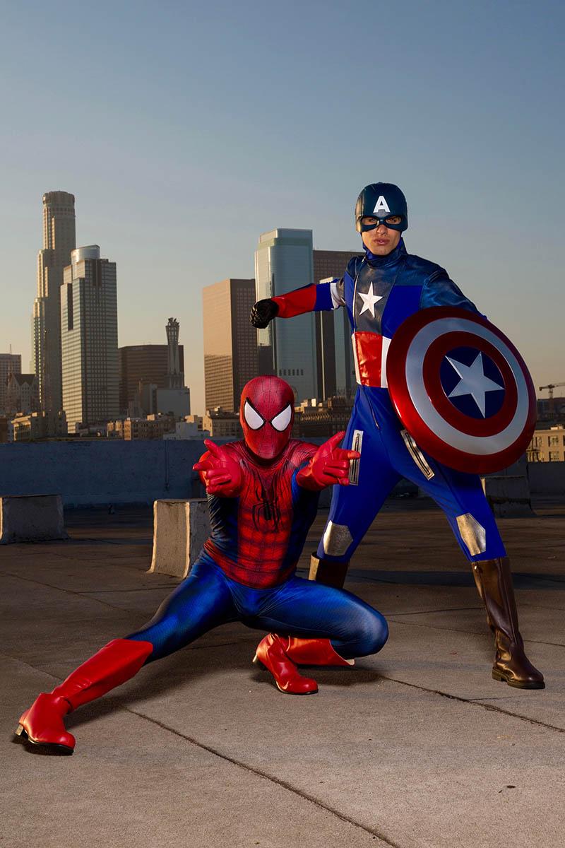 Captain spiderman party character for kids in cincinnati