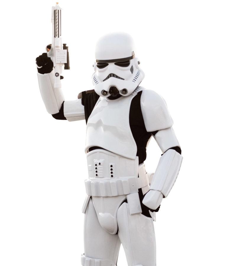 Storm trooper party character for kids in cincinnati
